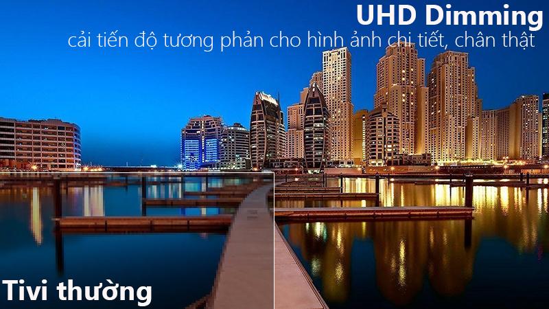 UHD Dimming giúp hình ảnh tivi được tái tạo đem lại hình ảnh sắc nét cho người xem