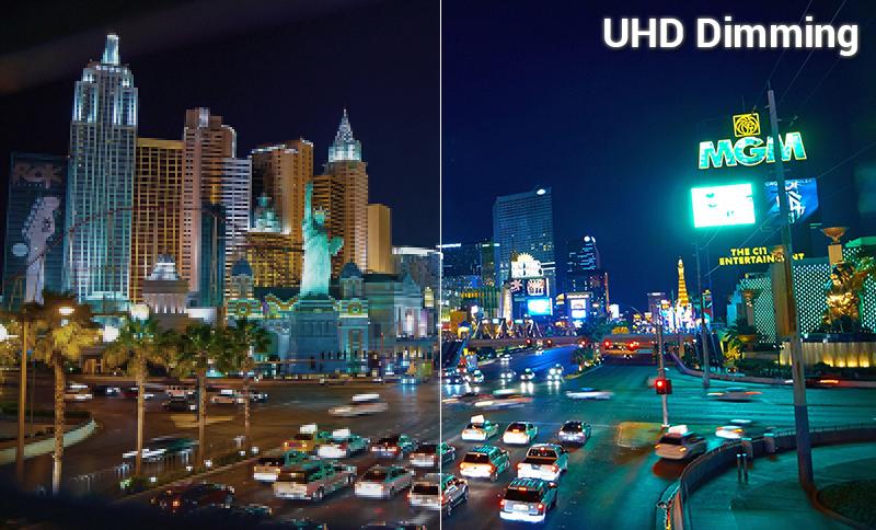 UHD Dimming giúp tái tạo hình ảnh