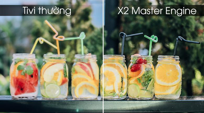 công nghệ X2 master Engine giúp hiển thị màu sắc đẹp mắt