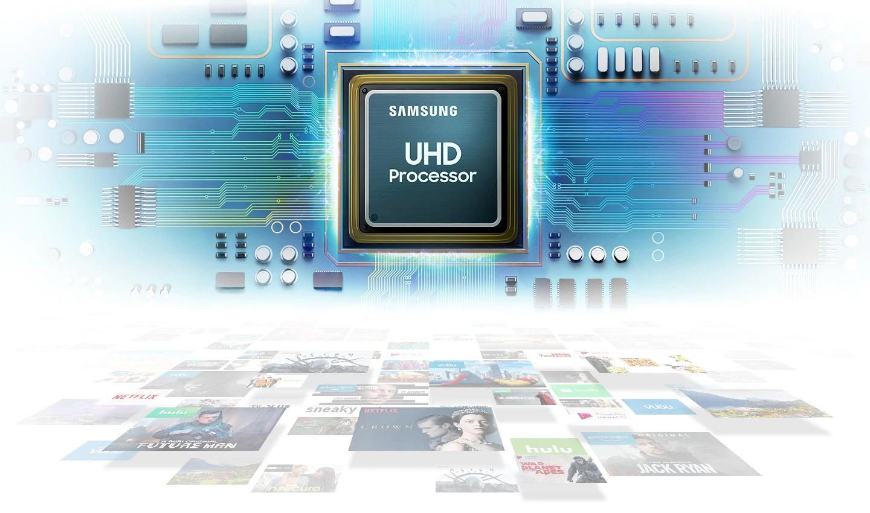 Smart Tivi cong Samsung 4K 55 inch UA55RU7300KXXV sử dụng bộ xử lý UHD quyền lực