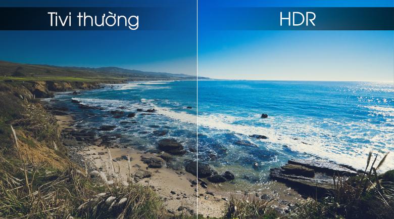 công nghệ HDR đem tới hình ảnh sắc nét giúp người dùng trải nghiệm tốt