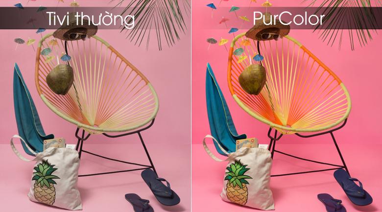 công nghệ hình ảnh purcolor đem tới hình ảnh màu sắc rực rỡ