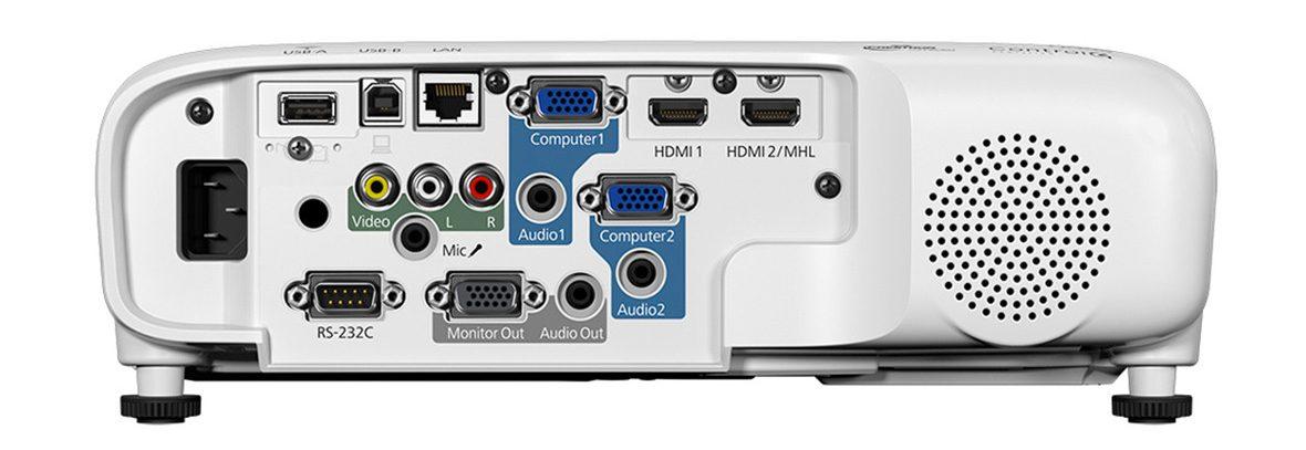 Máy chiếu Epson EB-2042 trang bị nhiều cổng kết nối dễ dàng kết nối