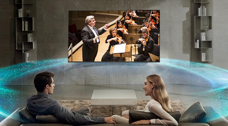 âm thanh sống động giúp người xem như ở rạp chiếu phim, rạp hát