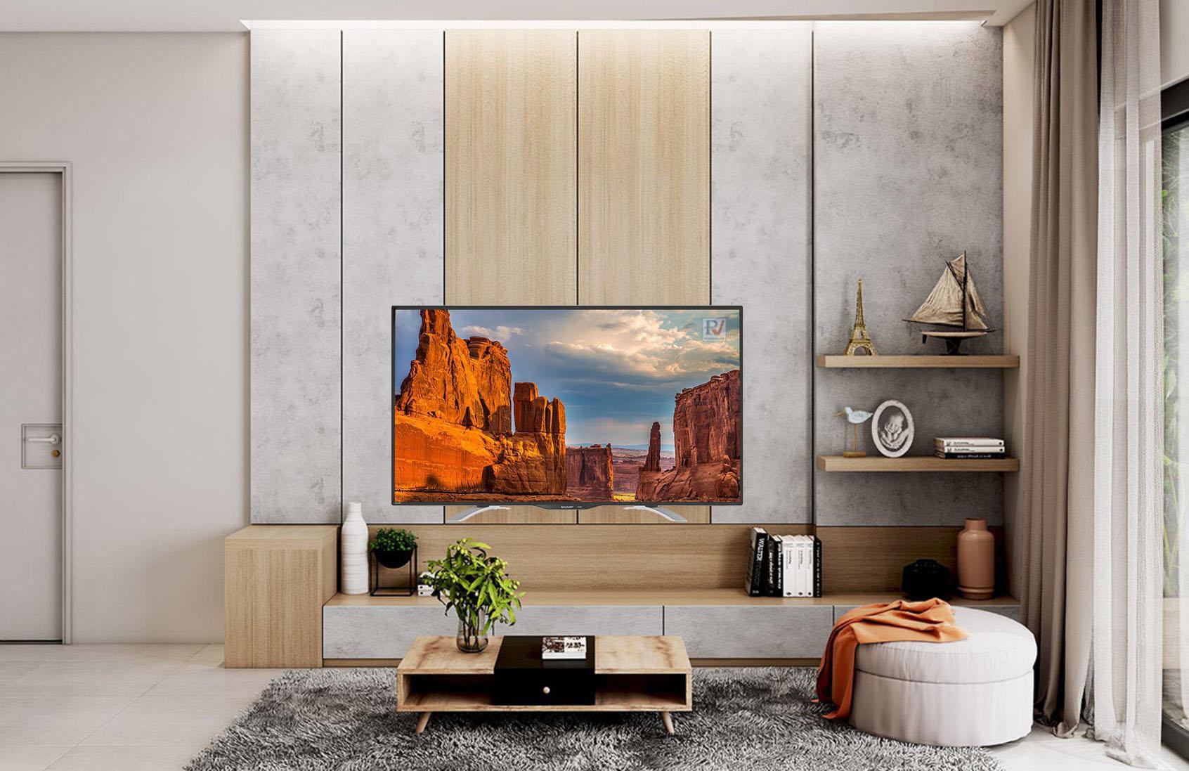 Tivi Sharp 4K 40 inchLC-40UA330X thiết kế đẹp phù hợp với mọi không gian