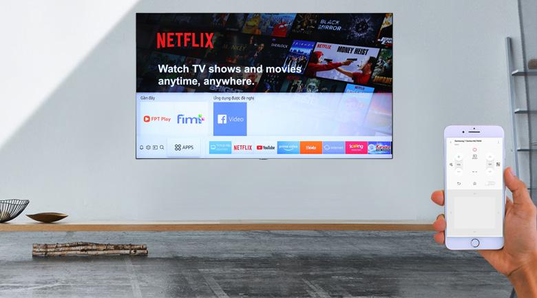 điều khiển tivi samsung dễn dàng qua ứng dụng smartthing
