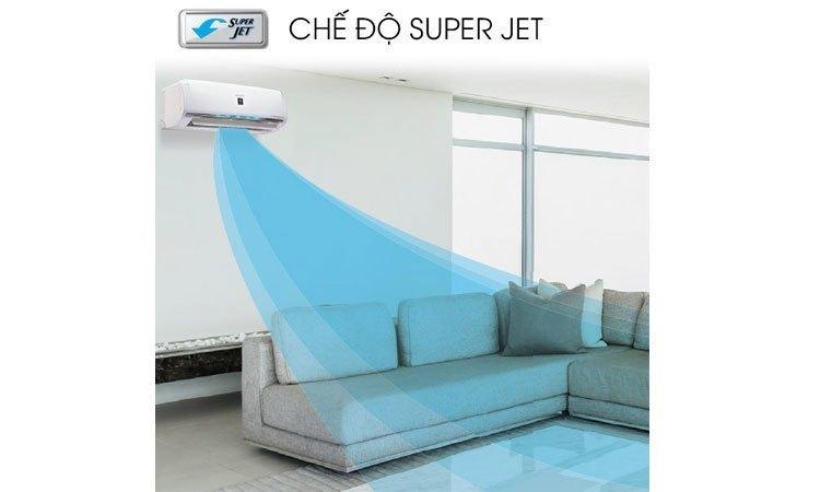 Máy lạnh - điều hòa Sharp Inverter 1 HP AH-X9VEW chế độ super jet giúp căn phòng làm lạnh nhanh