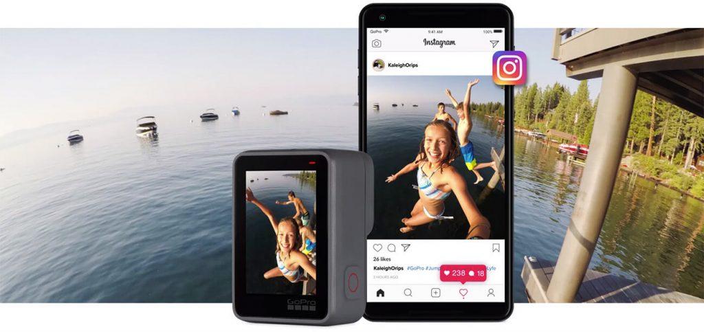 Máy Quay GoPro HERO 7 White dễ dàng chia sẻ trên mạng xã hội Instagram
