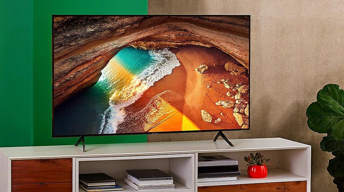 Smart Tivi Qled Samsung 4K 49 inchQA49Q65RAKXXV thiết kế đẹp mắt vô cùng sang trọng
