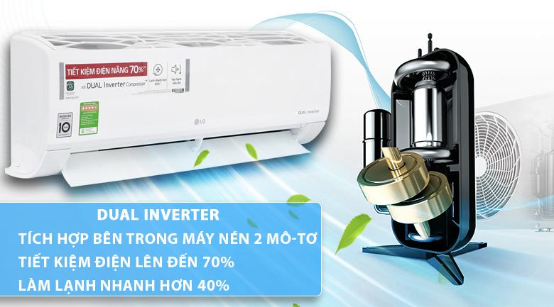 Máy lạnh - điều hòa LG Inverter 2.5 HP V24ENF với tính năng tiết kiệm điện tiên tiến