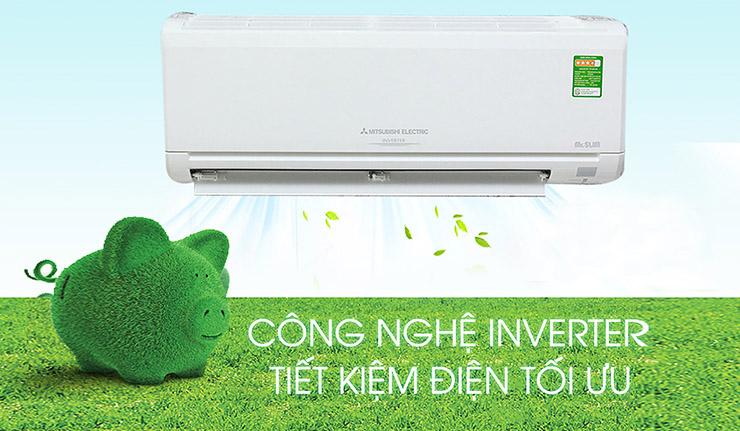 Máy lạnh - điều hòa Mitsubishi Inverter 2 HP SRK/SRC45ZMP-S5 (2 chiều) giúp bạn tiết kiệm 1 khoản tiền hàng tháng vô cùng hiệu quả