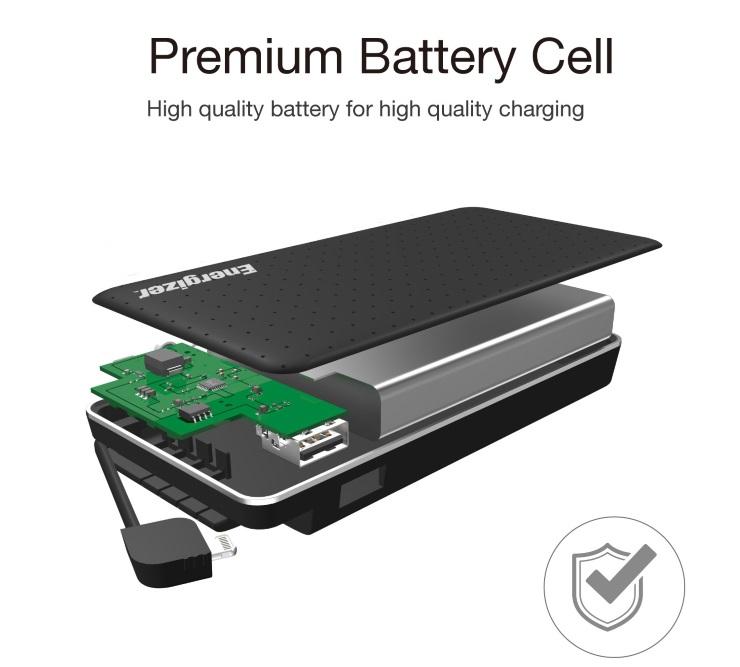Giới thiệu Pin sạc dự phòng Energizer 10.000mAh, 3.7V Li-Polymer - XP10002ABK (Đen)