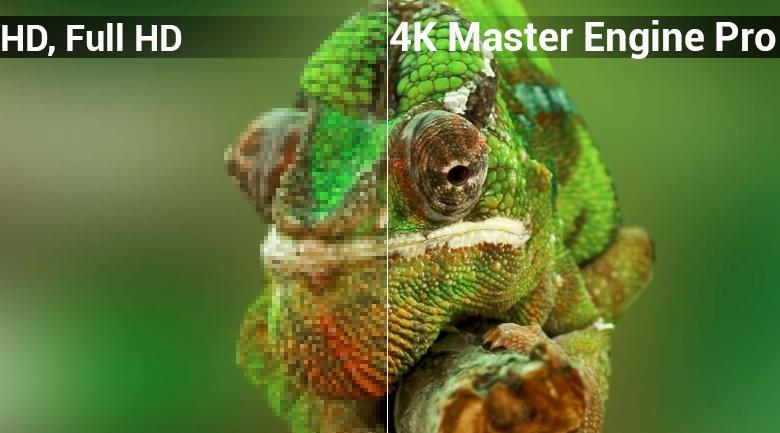 4K Master Engine đem tới hình ảnh sắc nét trên tivi sharp