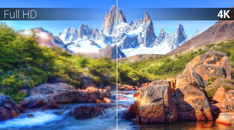 độ phân giải 4k đem tới hình ảnh sắc nét từng chi tiết