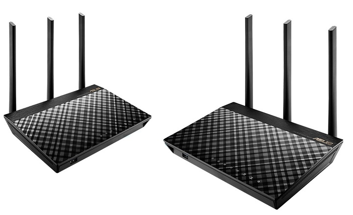Router wifi Asus RT-AC67U AiMesh AC1900 (2 Pack)
