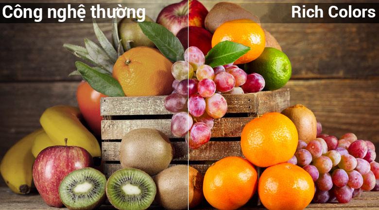 Công nghệ hình ảnh Rich Color đem tới hình ảnh sắc nét chân thực