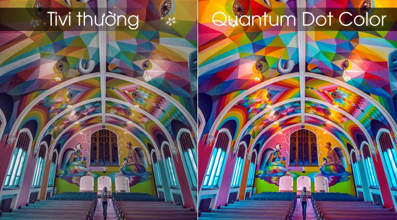 Quantum Dot Color đem lại màu sắc rực rỡ vô cùng ấn tượng
