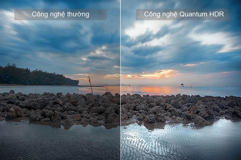 Quantum HDR đem tới mầu sắc đẹp mắt chất lượng