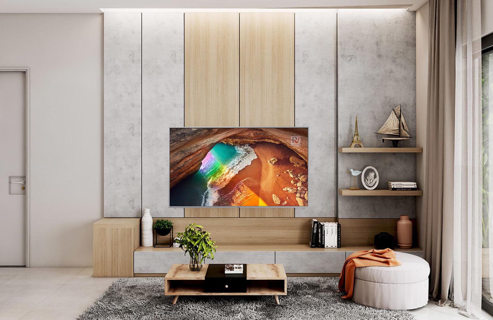 Smart Tivi QLED Samsung 4K 75 inch QA75Q65RAKXXV thiết kế sang trọng đẹp mắt