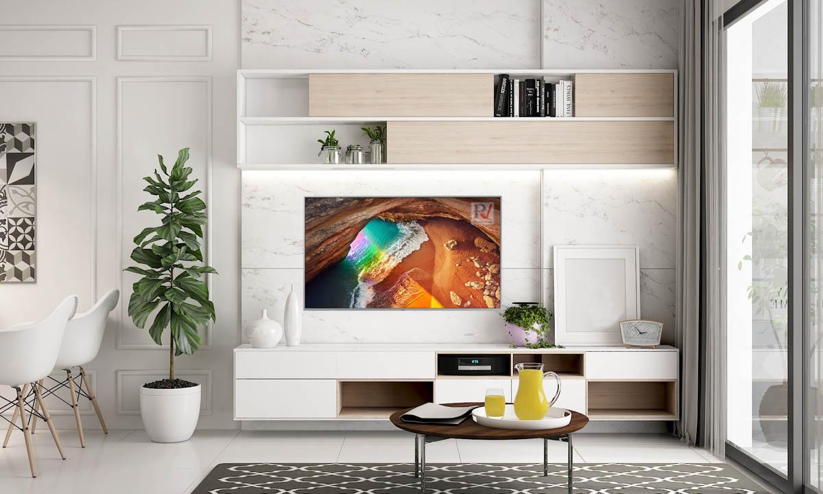 Smart Tivi QLED Samsung 4K 82 inch QA82Q65RAKXXV thiết kế đẹp mắt sang trọng