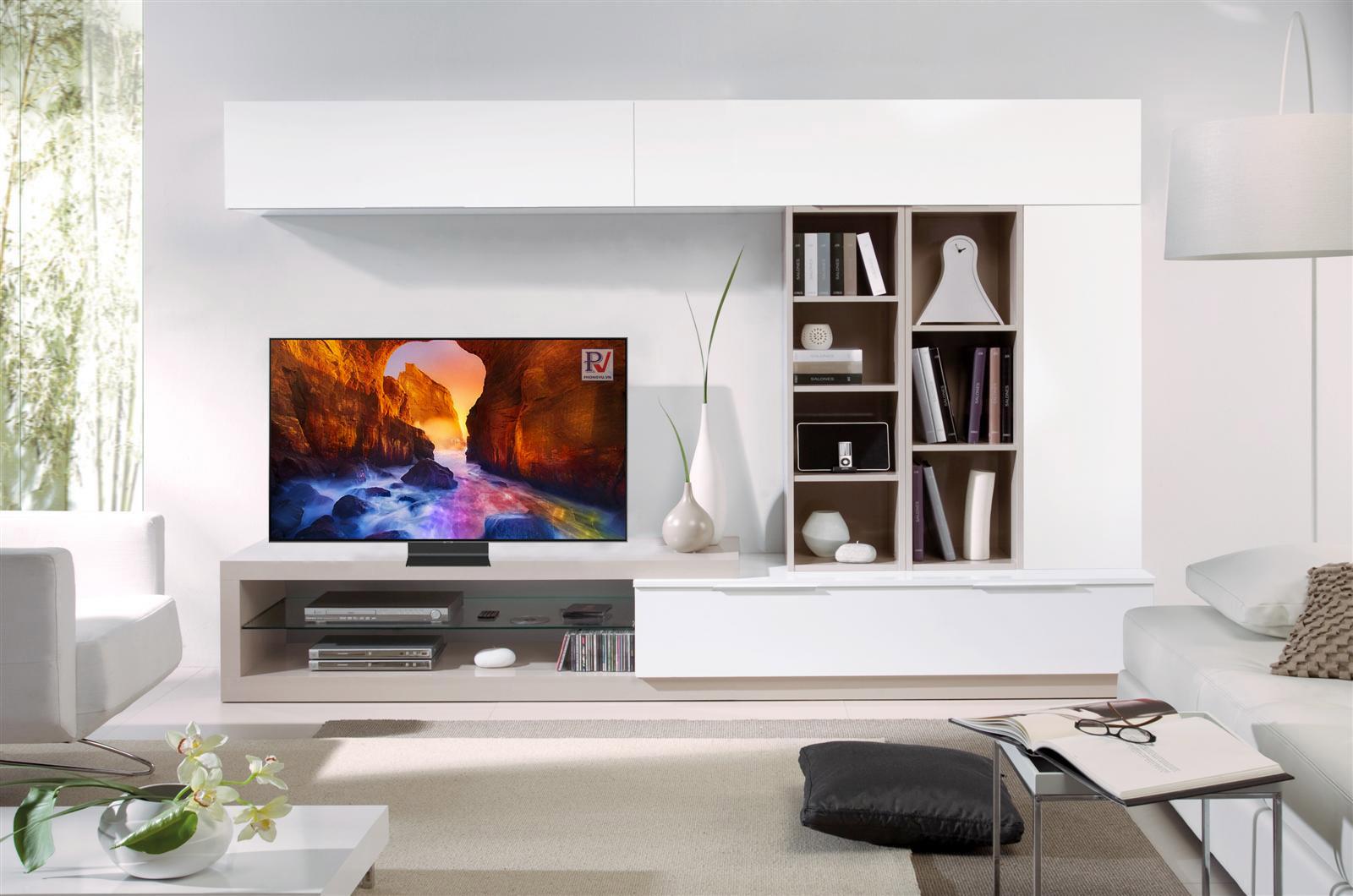 Smart Tivi QLED Samsung 4K 82 inch QA82Q90RAKXXV thiết kế tinh tế sang trọng