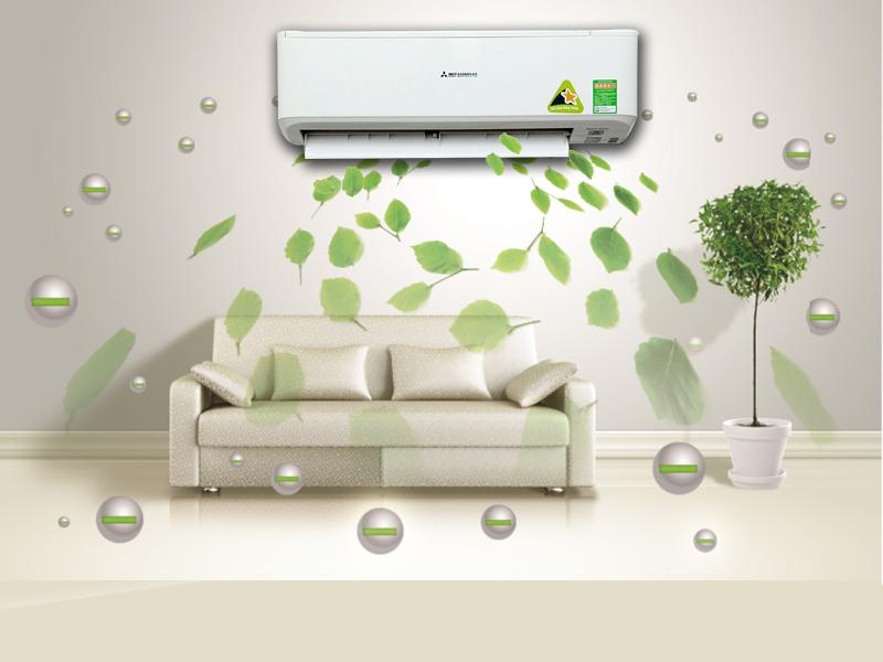 Máy lạnh - điều hòa Mitsubishi 2.5 HP SRK/SRC24CS-S5 tiết kiệm điện năng tiêu thụ đến mức tối đa
