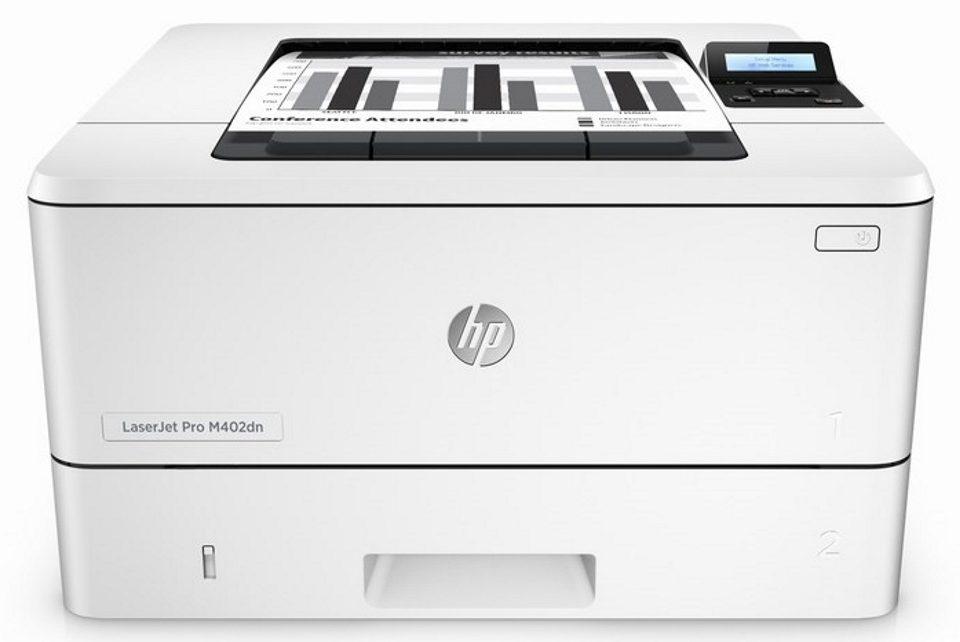 Máy inHPM402DN (C5F94A) thiết kế sang trọng đẹp mắt màu trắng trang nhã