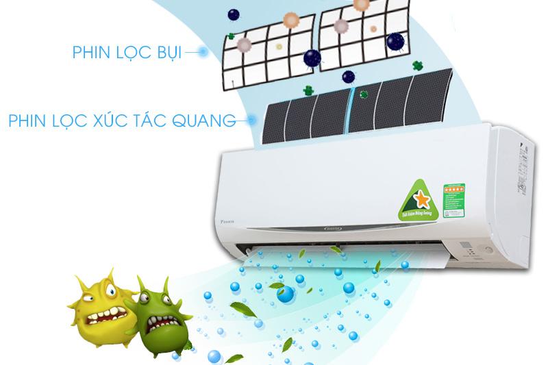 Điều hòa Daikin Inverter 2 chiều 1 HP FTHF25RAVMV với tấm lọc bụi hiệu quả đem tới không khí trong lành thoáng mát
