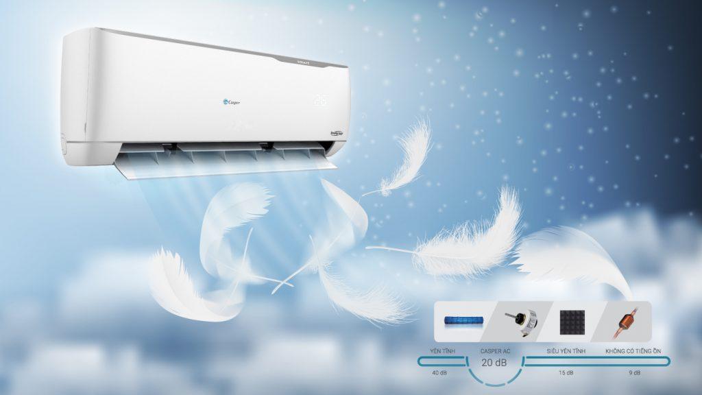 Điều hòa Casper Inverter 2.5 HP IH-24TL22 (2 chiều) với động cơ êm ái tiện lợi