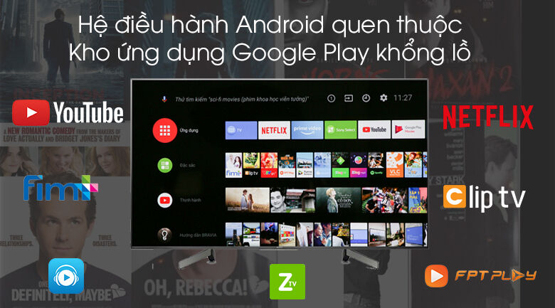 Android Tivi Sony 4K 65 inch KD-65X8000G với hệ điều hành Android đem tới chất lượng cho người sử dụng