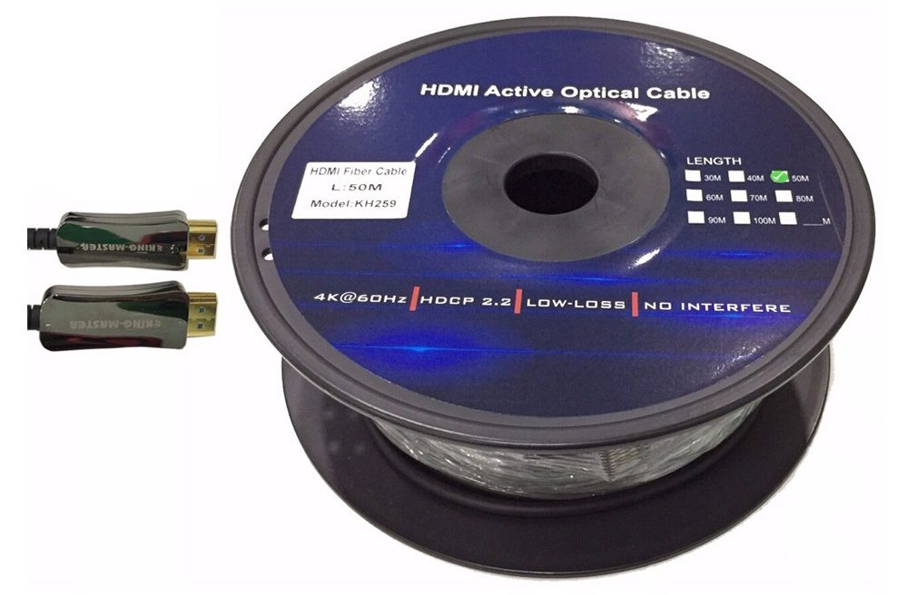 Cáp HDMI Kingmaster 2.0V (50m) Active Optical KH259