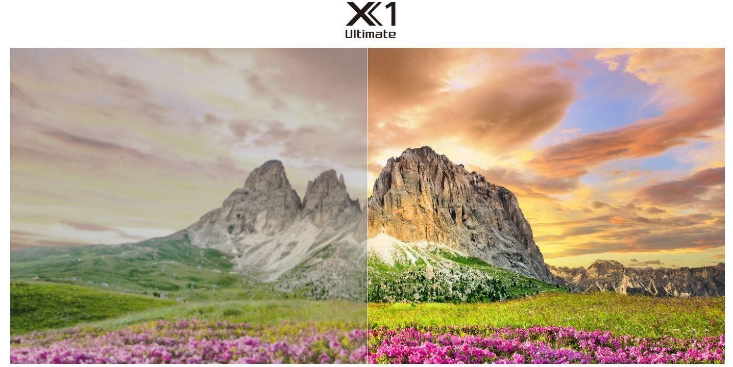 Bộ xử lý X1 Ultimate cao cấp của hãng được tích hợp trên tivi sony