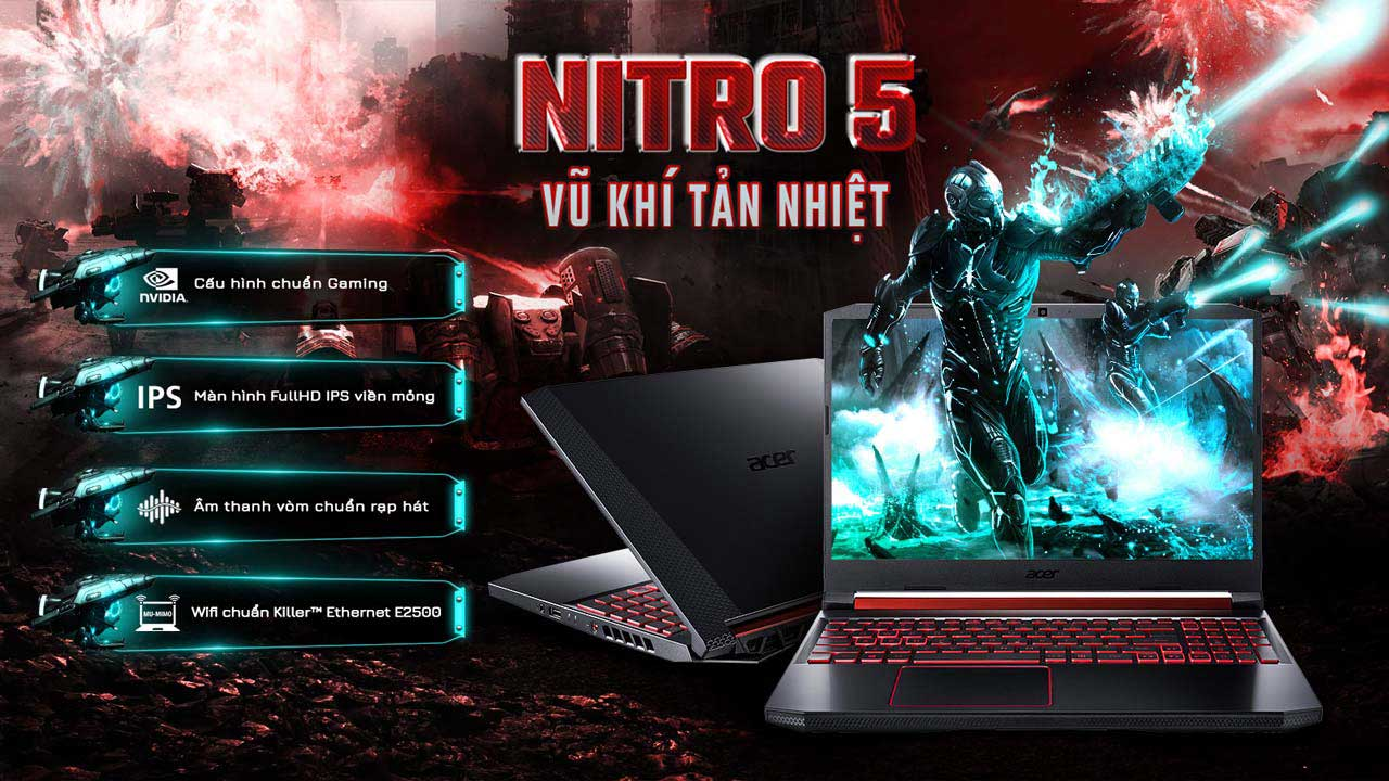 Overview Laptop Acer Nitro 5 AN515-54-59WX (NH.Q59SV.012) 1