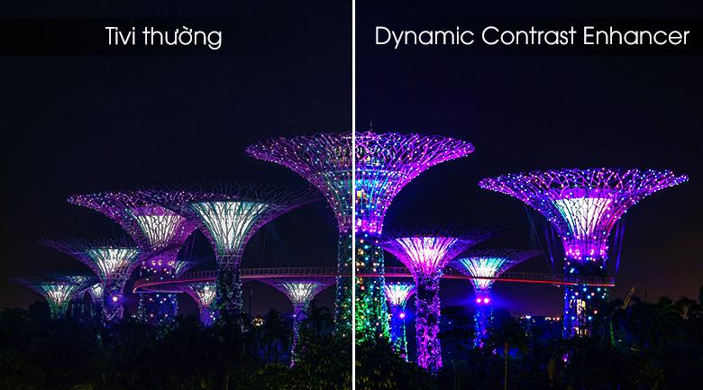 Công nghệ tăng cường độ tương phản Dynamic Contrast Enhancer giúp tăng cường độ tương phản của tivi sony