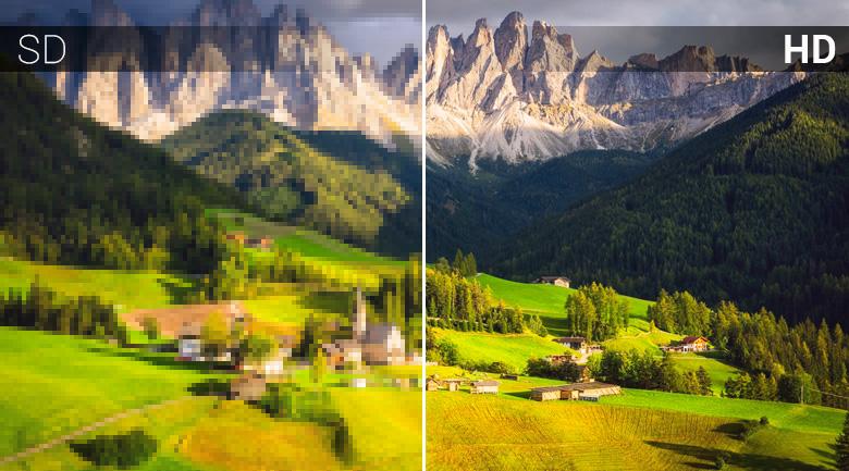 độ phân giải HD đem tới hình ảnh sắc nét chân thực