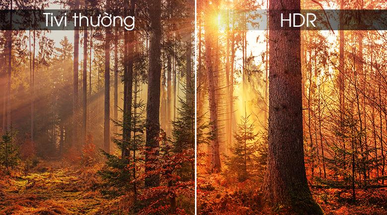 công nghệ HDR được tích hợp trong tivi Sony đem tới hình ảnh sắc nét, chân thực