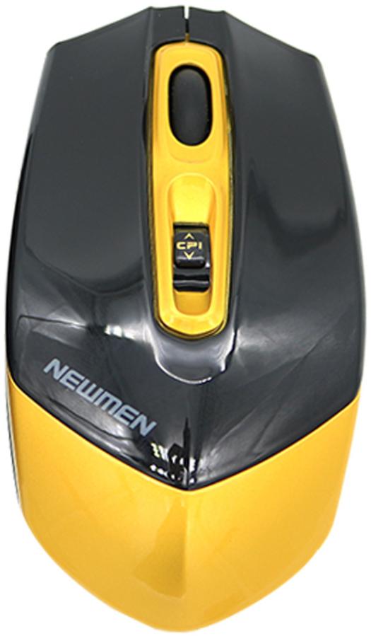 Chuột máy tính Newmen F300 Wireless (Vàng đen)