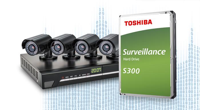 "Ổ cứng HDD Toshiba S300 Surveillance 6TB 3.5"" SATA 3 (HDWT360UZSVA) tương thích"