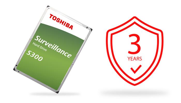 """Ổ cứng HDD Toshiba S300 Surveillance 10TB 3.5"""" SATA 3 (HDWT31AUZSVA) bảo hành"""