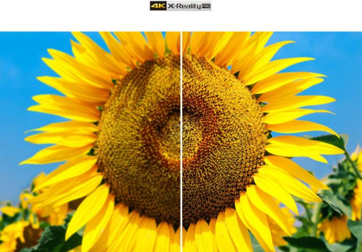 X-Reality Pro công nghệ độc quyền của hãng giúp nâng cấp chất lượng hình ảnh với độ sắc nét cao, mượt mà, hạn chế hình ảnh bị nhòe, nhiễu hạt