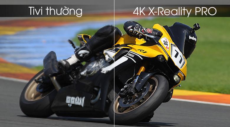 4K X-Reality Pro đem tới hình ảnh sắc nét cho dù với góc nhìn hẹp nhất