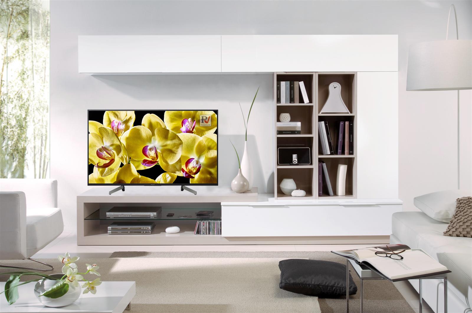 Android Tivi Sony 4K 43 inch KD-43X8000G thiết kế phù hợp với mọi không gian sử dụng