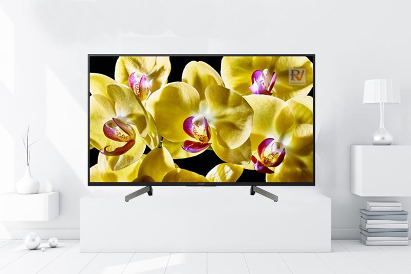 Android Tivi Sony 4K 55 inch KD-55X8000G thiết kế sắc nét tinh tế làm nổi bật không gian sử dụng