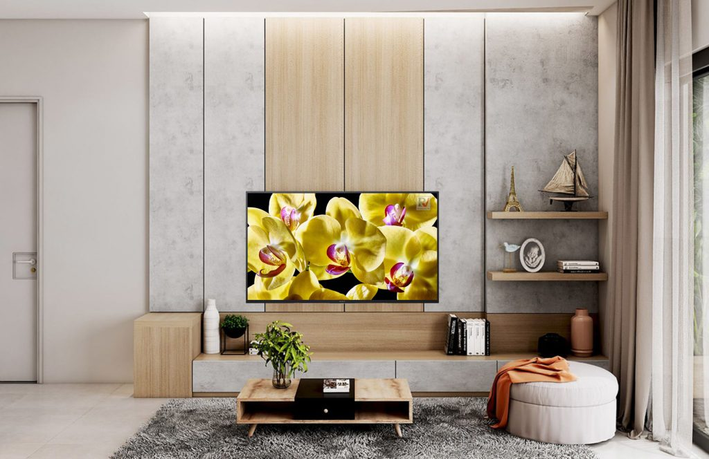 Android Tivi Sony 4K 65 inch KD-65X8000G phù hợp với để trên kệ hay treo tường vô cùng đẹp mắt