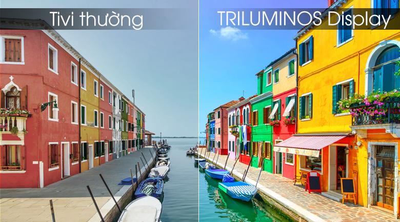 Công nghệ TRILUMINOS giúp tái tạo những mảng màu khó tái tạo nhất trở nên rực rỡ, tự nhiên
