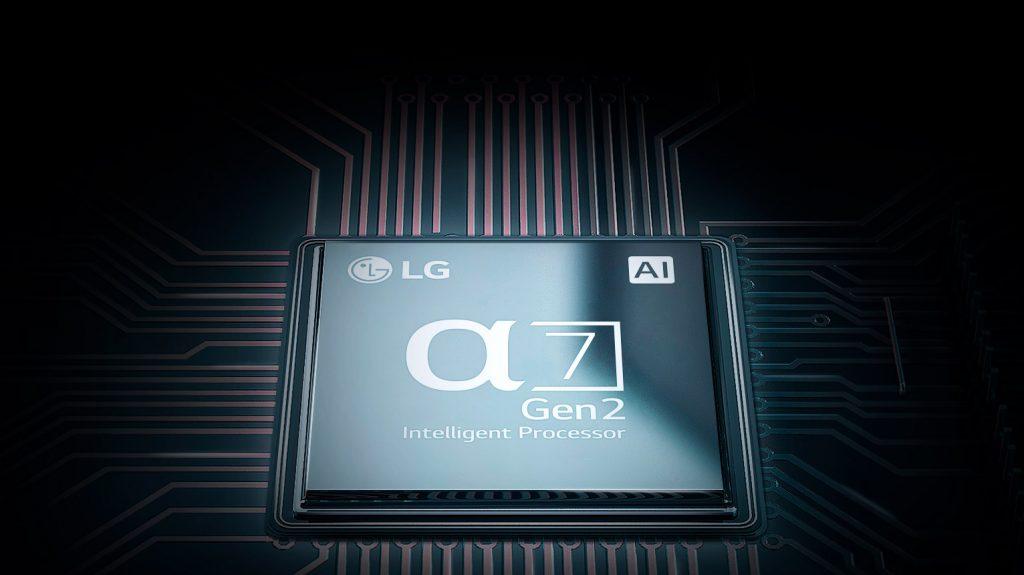 Bộ xử lý thông minh α7 thế hệ thứ hai giúp tivi có hình ảnh chất lượng