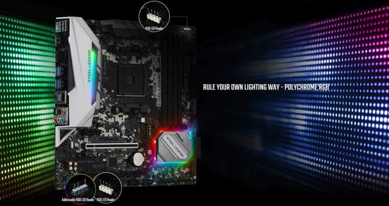 Dải đèn RGB ASRock B450M Steel Legend
