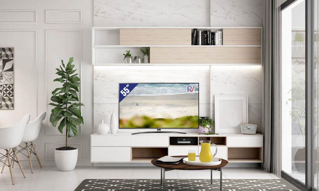 Smart Tivi LG 4K 55 inch 55UM7600PTA thiết kế phù hợp với mọi không gian