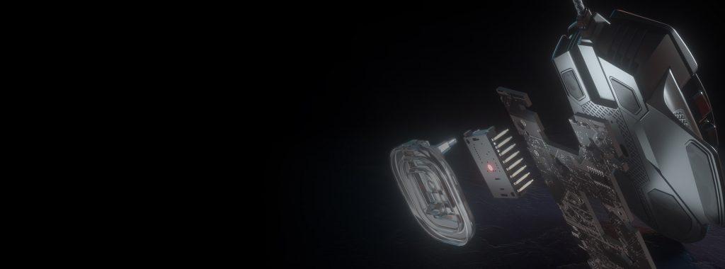 Chuột gaming CorSAIR Glaive PRO Aluminum RGB độ chính xác cao