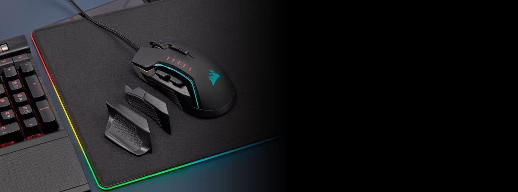 Chuột gaming CorSAIR Glaive PRO Aluminum RGB thiết kế vừa lòng bàn tay